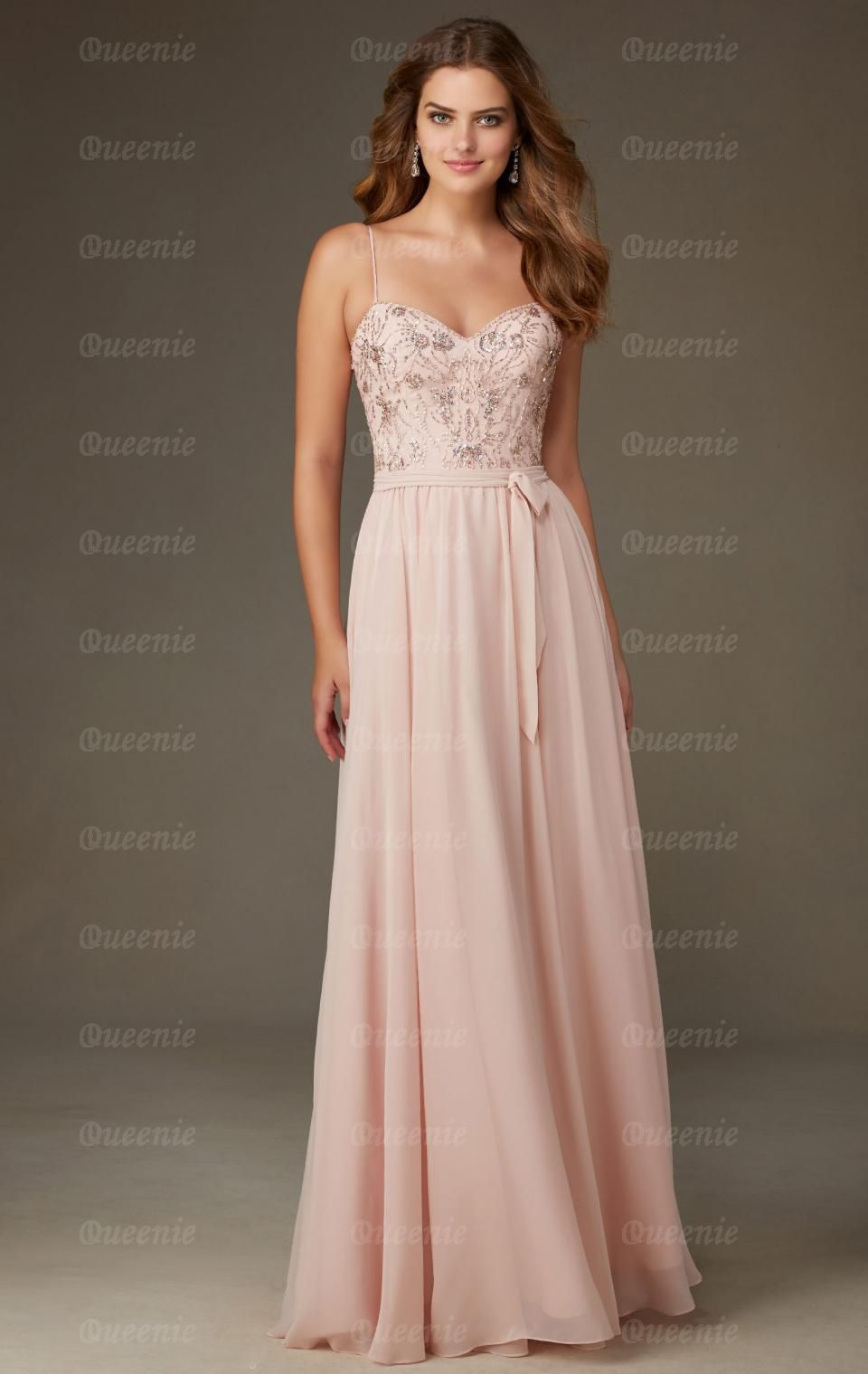 Best Light Pink Bridesmaid Dress BNNCL0013-Bridesmaid UK ...