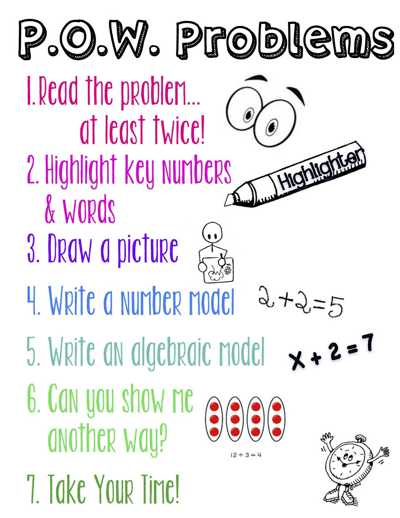 Problem Of The Week Strategies Printable