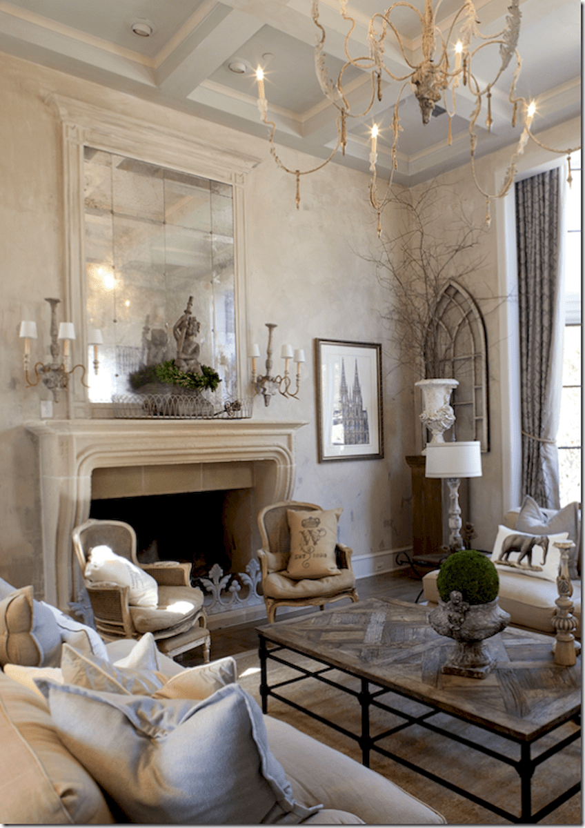 Beautiful French Country Living Room Decor Ideas 6