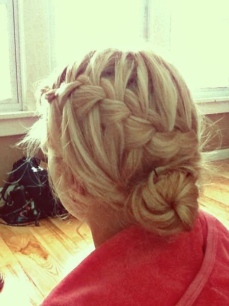 waterfall braid bun