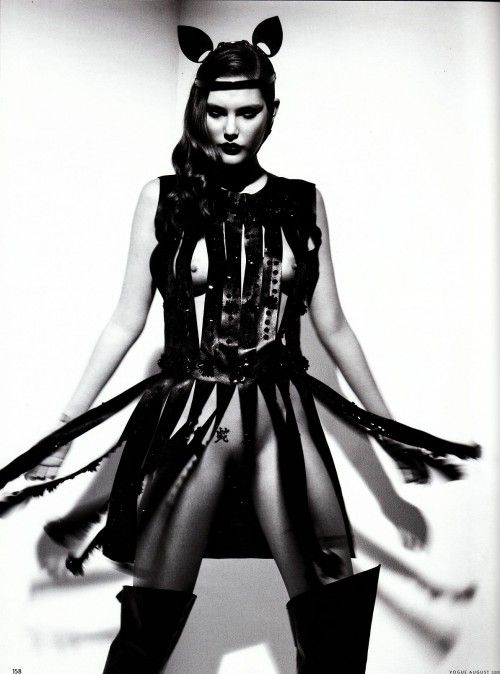Catherine McNeil for Vogue Germany. Patrick Demarchelier editorial