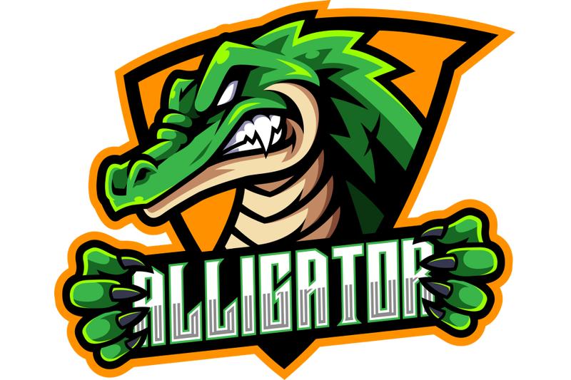 Alligator Sport Mascot Logo Design By Visink Thehungryjpeg Com Logo Design Mascot Illustration Design