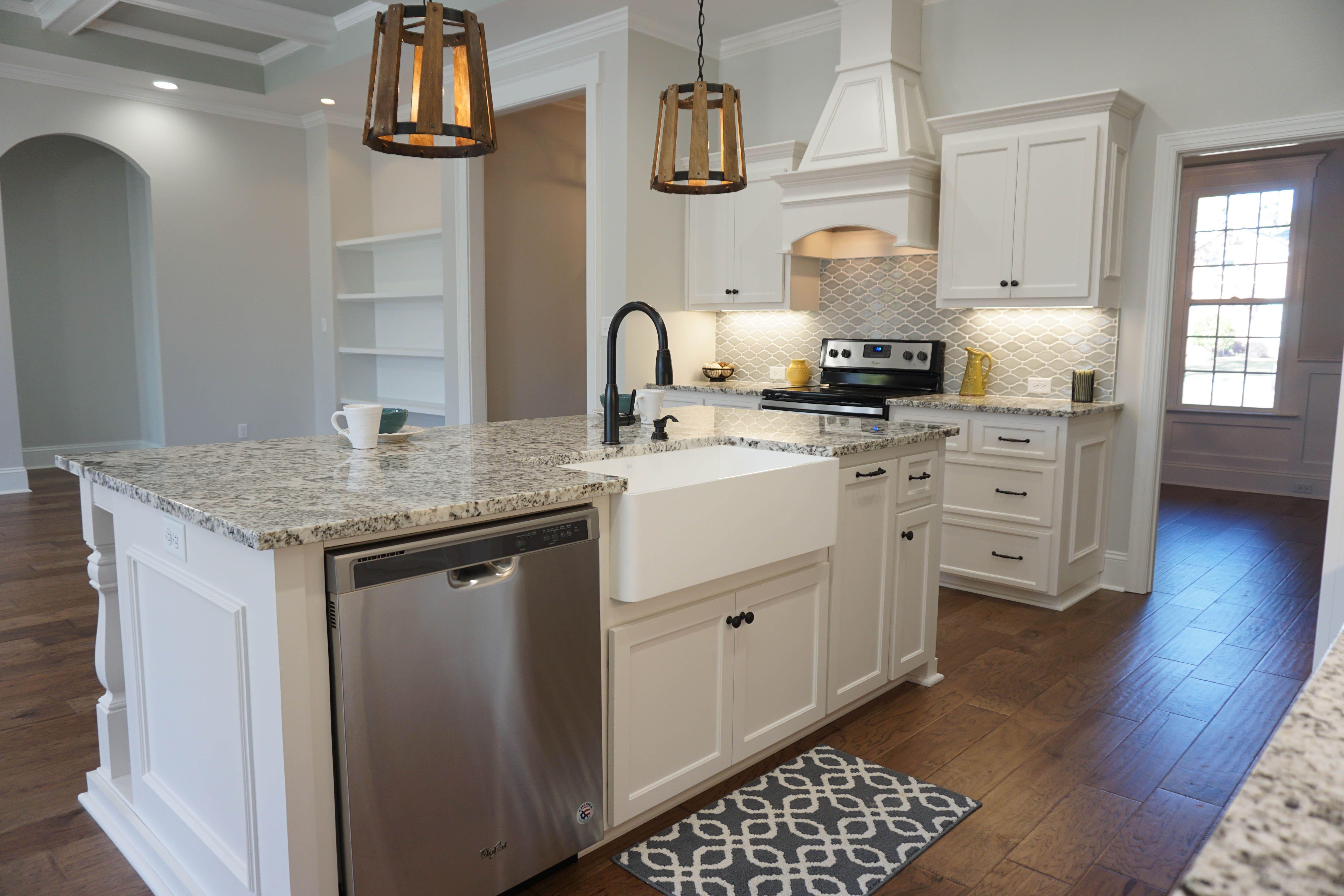 Farmhouse sink and storage galore make this kitchen a