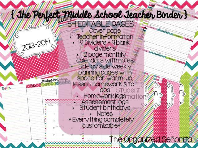 The Organized Señorita: 2013-2014 Teacher Binder - GIVE AWAY!!!!