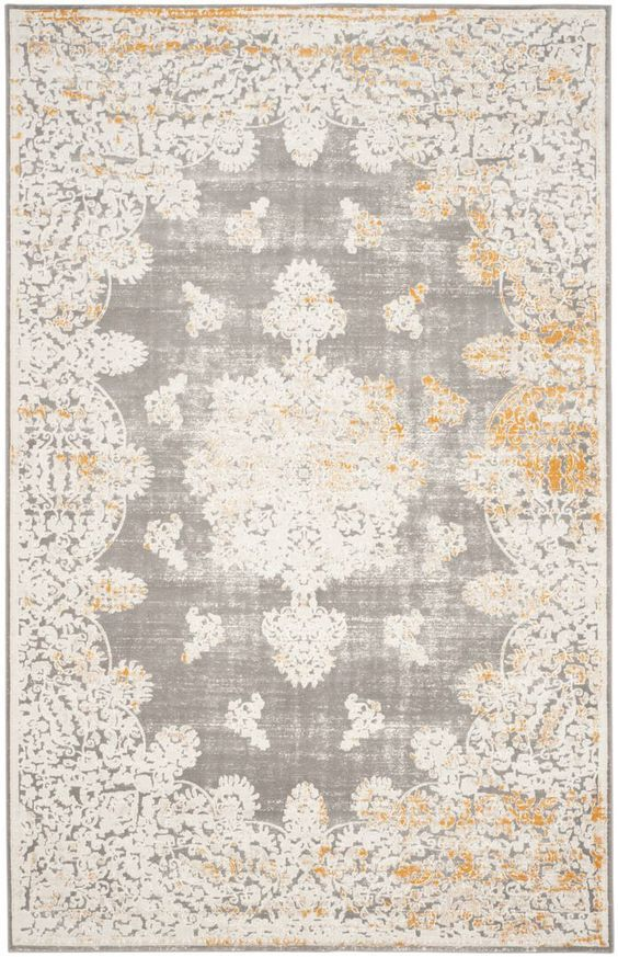 Product Type Area Rug Primary Color Gray Ivory Material Synthetic Border Yes Dimensions Pile Height 0 28 Size 4