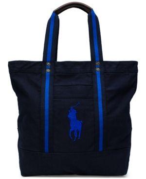6def87de6c1d Polo Ralph Lauren Men s Big Pony Canvas Tote Bag - Navy