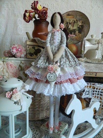 Куклы Тильды ручной работы. Ярмарка Мастеров - ручная работа. Купить Кукла Тильда Фея времени. Handmade. Серый