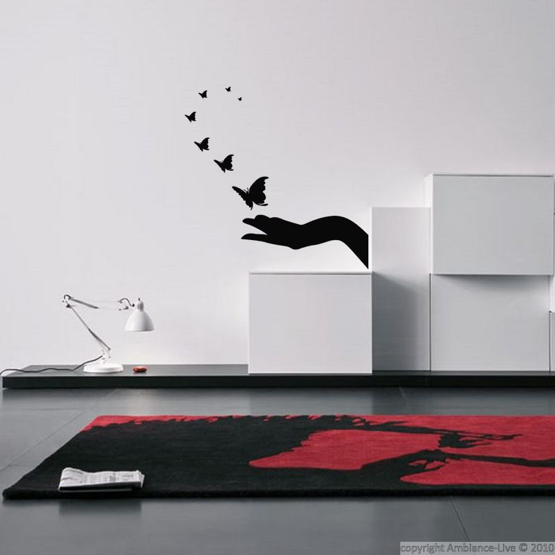 Ambiance Wall Stickers sticker evasion de papillons | papillons, wall decals and living rooms
