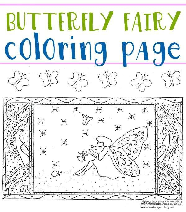 Butterfly Fairy Coloring Page (plus activity)