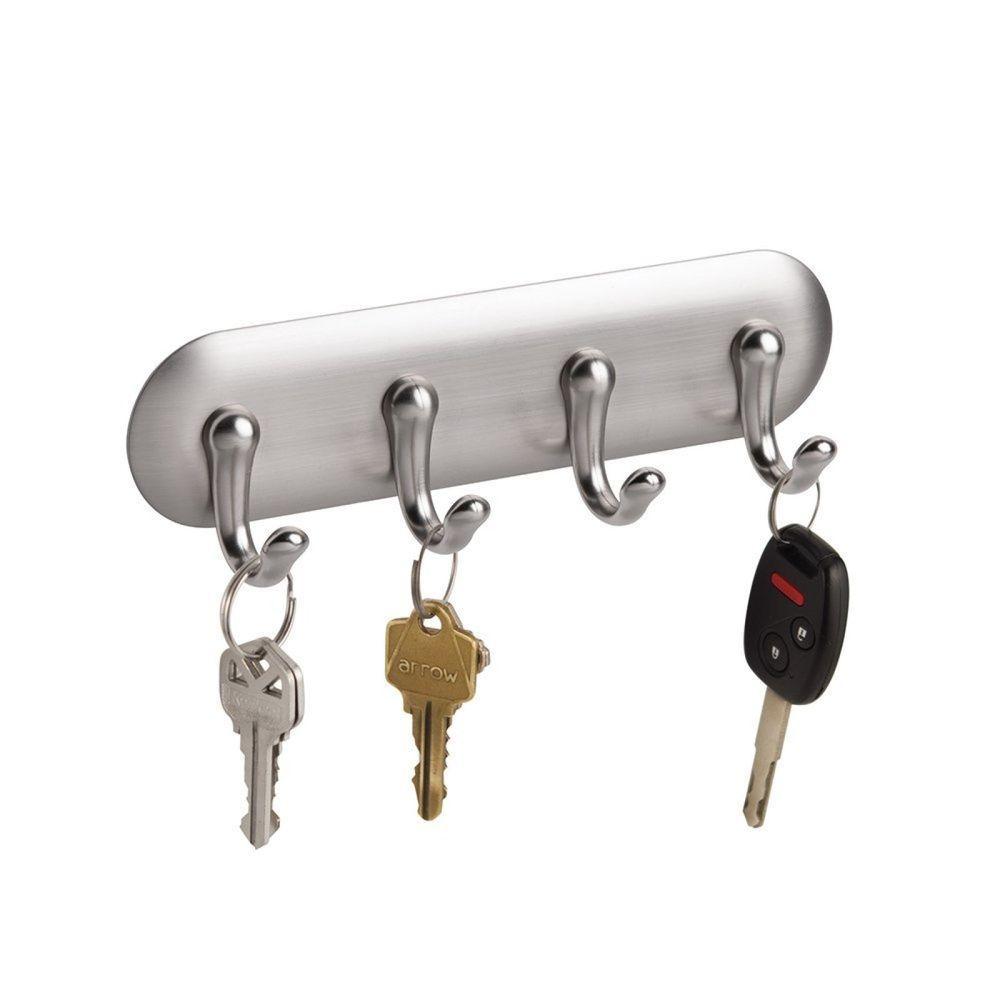 office key holder. Wall Mount Key Rack Organizer Holder 4 Hook Hanging Storage Office Entryway H