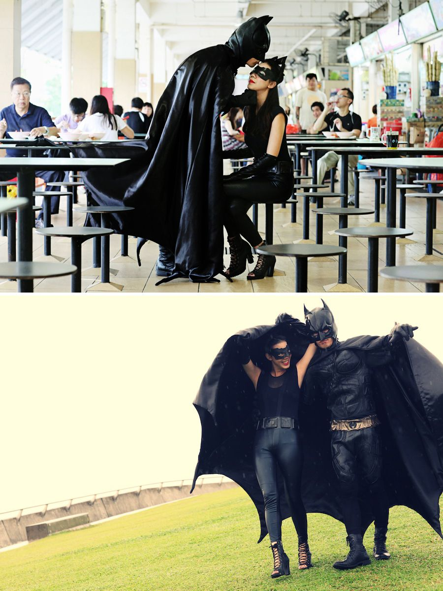Batman And Catwoman Inspired Playful Pre Wedding Shoot Inspiration Perfect  For DC Comics Fans /