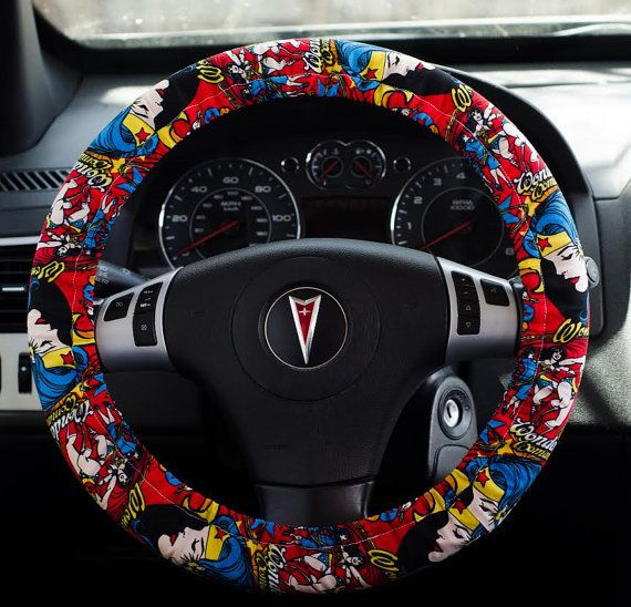 Made From Wonder Woman Girl Power Fabric Padded Steering