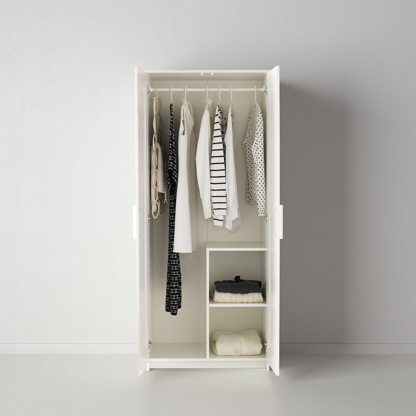 Ikea Brimnes Kleiderschrank Kasten 2 Turig Weiss 2turig