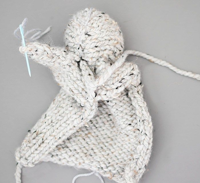 One Square Knit Bunny | Craft ideas | Pinterest