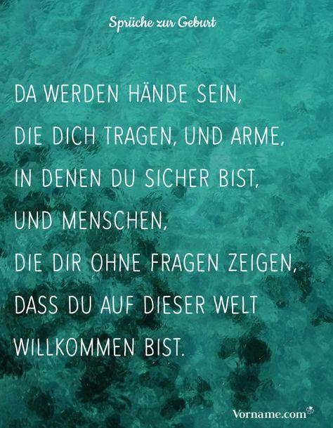 Belles paroles à la naissance - Schöne Sprüche zur Geburt & Taufe -