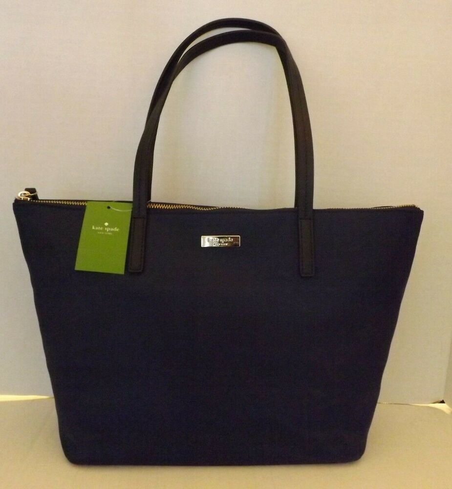 Pin On See More Kate Spade May Street Lida French Navy Nylon