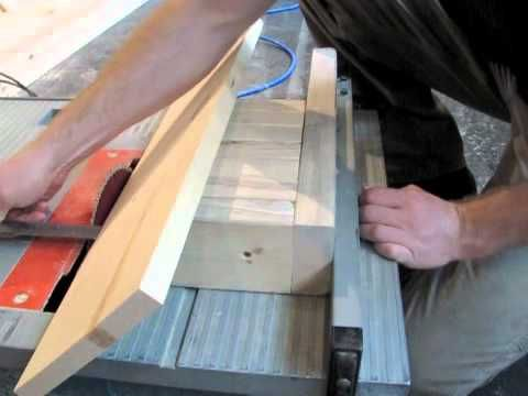 Tapered cut techniques for table saw setting blade angle on a tapered cut techniques for table saw setting blade angle on a table saw youtube greentooth Gallery