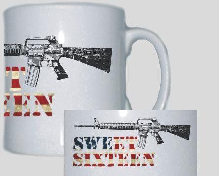 Tasse Sweet Sixteen / mehr Infos auf: www.Guntia-Militaria-Shop.de