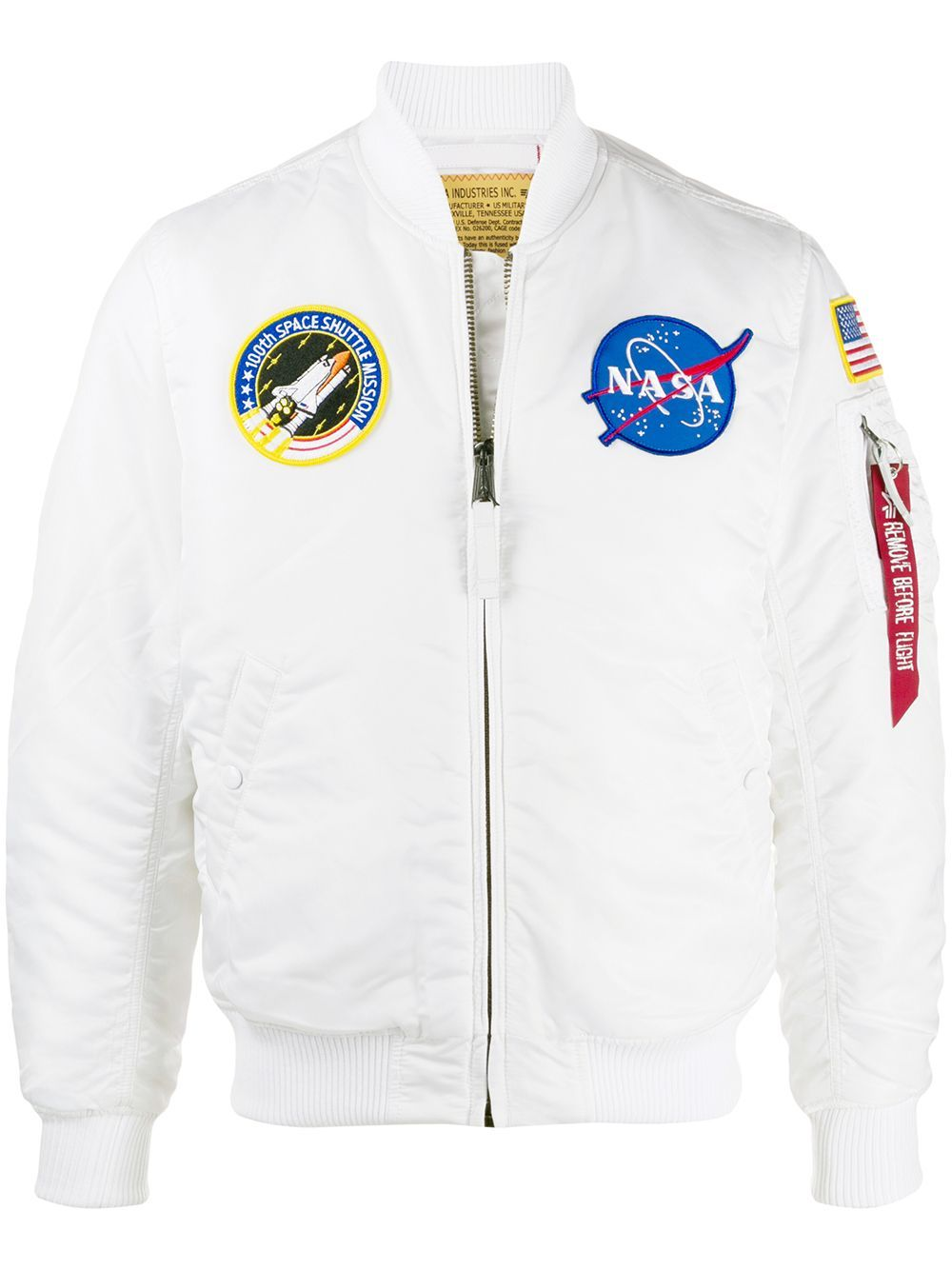Unisex Bomber Jacket Space  Sphere White