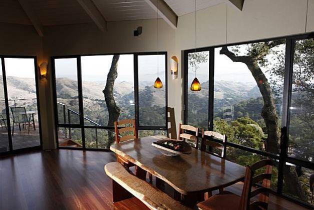 Large Windows For Homes oakland hills home remodel lets views, light shine   dark hallway