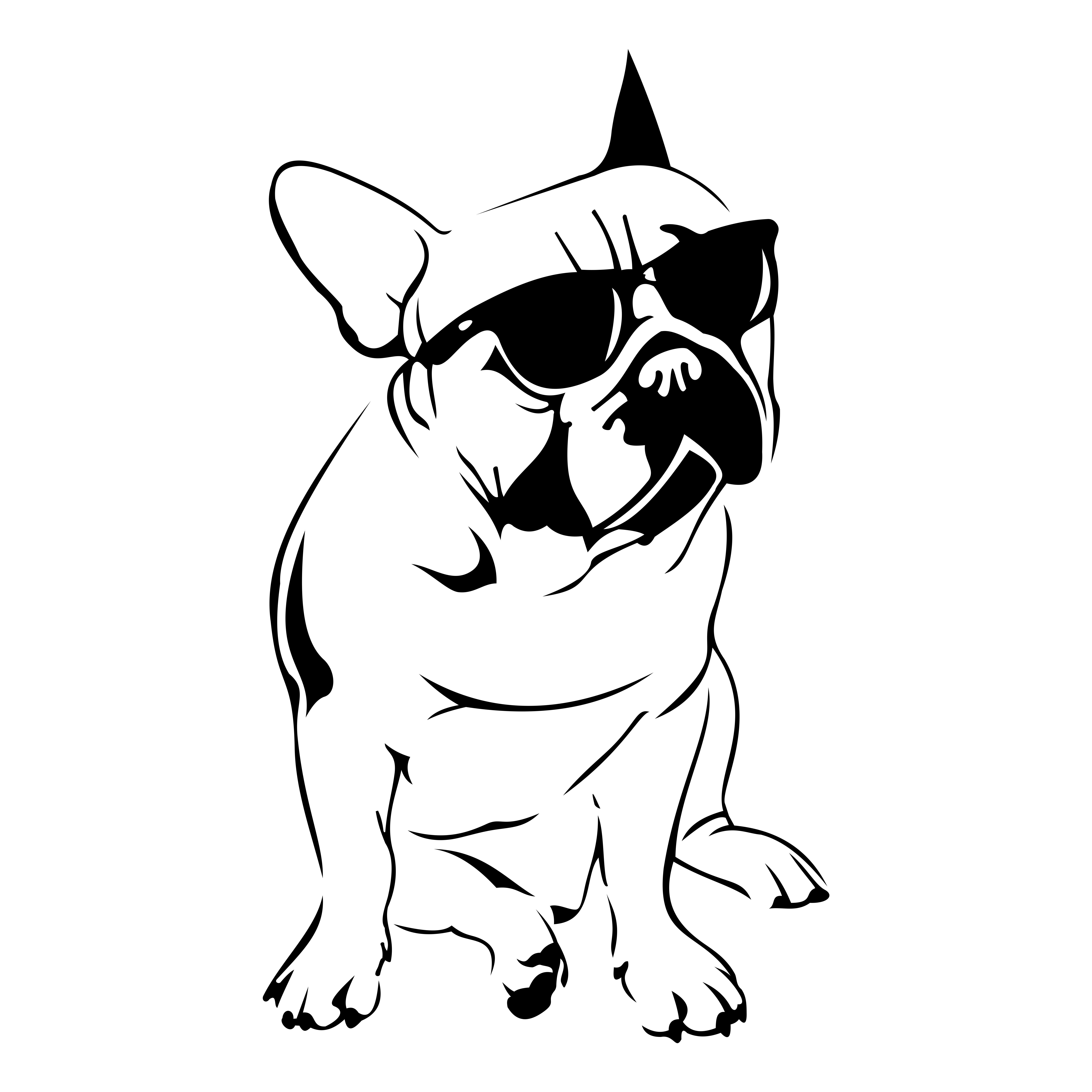 French Bulldog Design Svg Dxf Eps Cdr Ai Vector