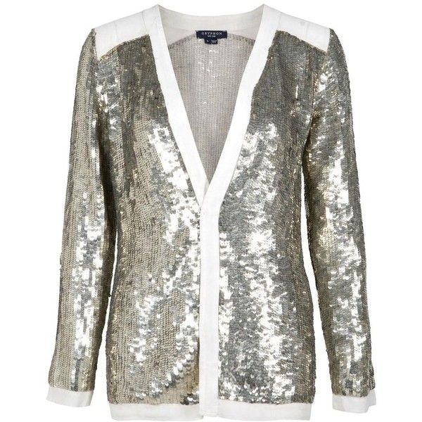 GRYPHON Sequin Cardigan ($518) ❤ liked on Polyvore featuring tops ...