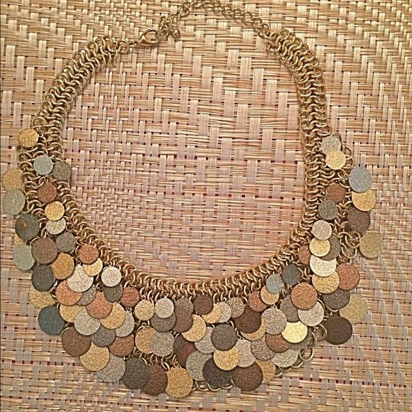 Statement necklace Gold copper and silver color Jewelry Necklaces