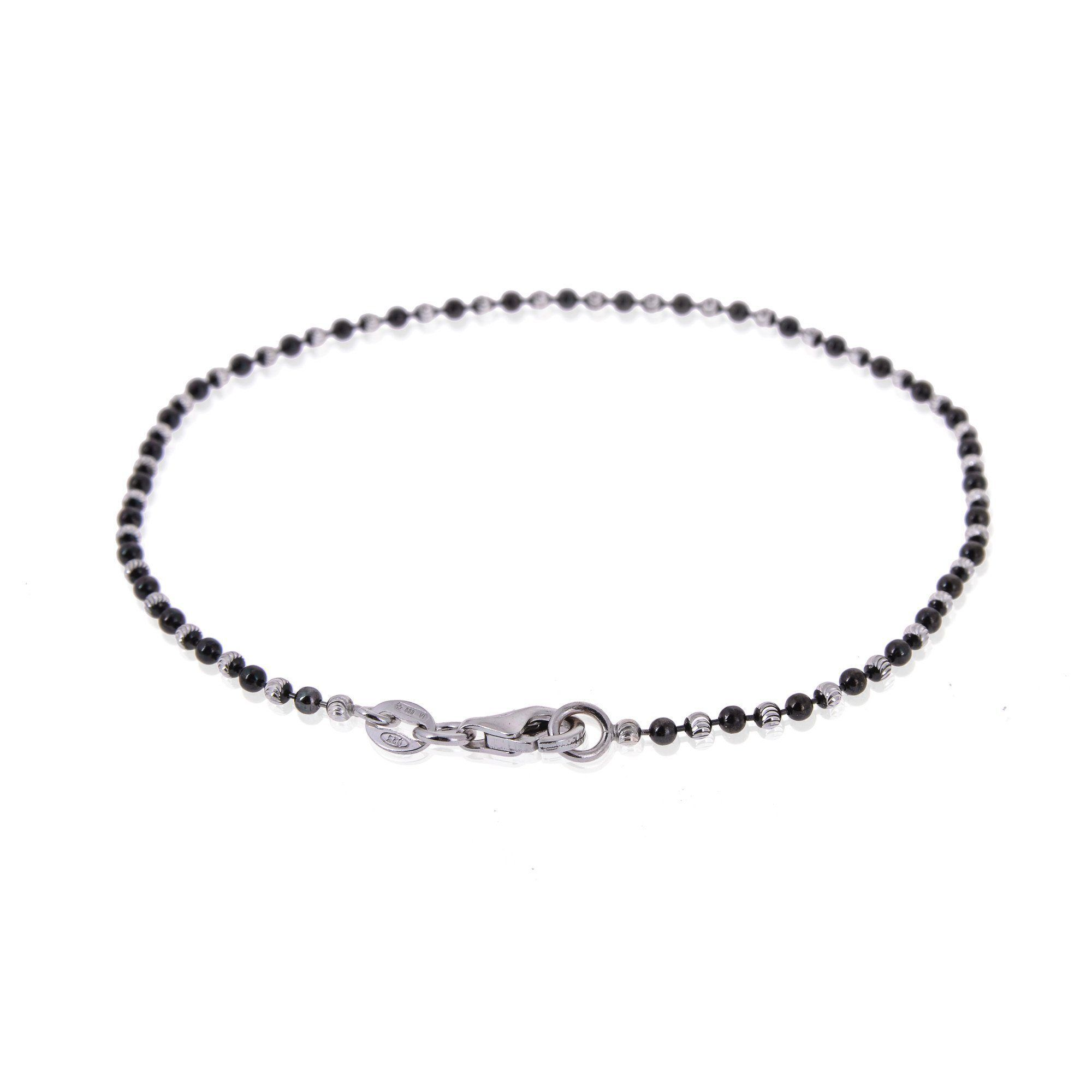 5dce04d371d Men's Sterling Silver Diamond Balls Chain Type Bracelet #silver  #thinkpositivefashioncafe #thinkpositive #jewellery #antoniomarsocci ...