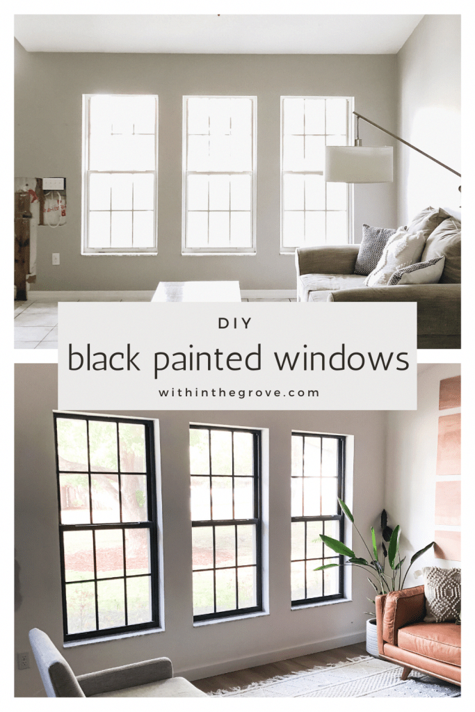 How To Paint Black Window Frames And Panes Within The Grove Aframehouse Home Upgrades Home Home Decor
