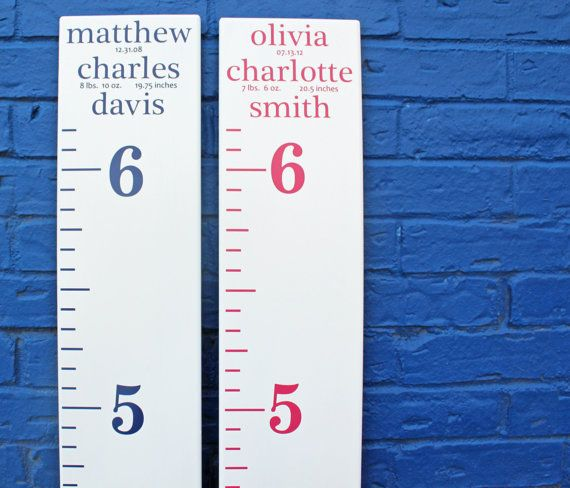 Easily Make Your Own Growth Chart Ruler For A Nursery With Personalized Birth Stats Diy Decals By Littleacornsbyro On Etsy 8 00