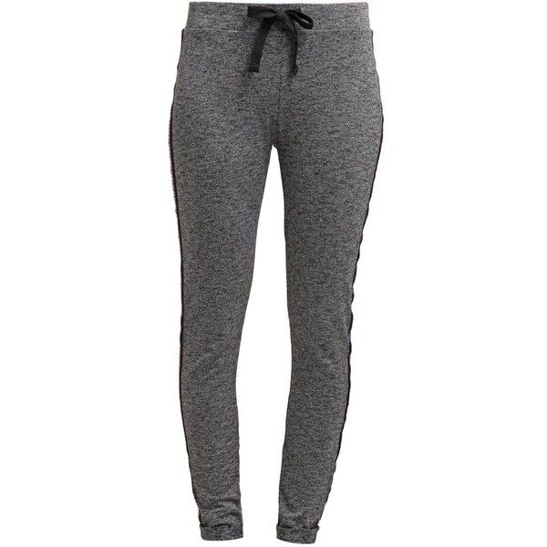TWINTIP Tracksuit bottoms dark grey melange ❤ liked on Polyvore featuring activewear