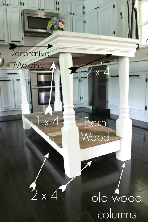 DIY Kitchen Island with salvaged wood | Para el hogar, Ideas para y ...
