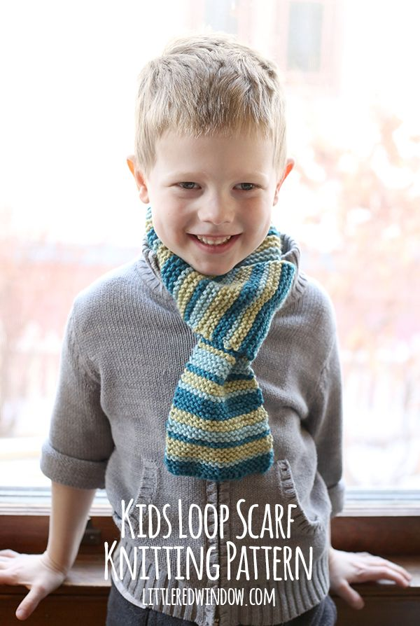 Kids Loop Scarf Knitting Pattern | Stricken