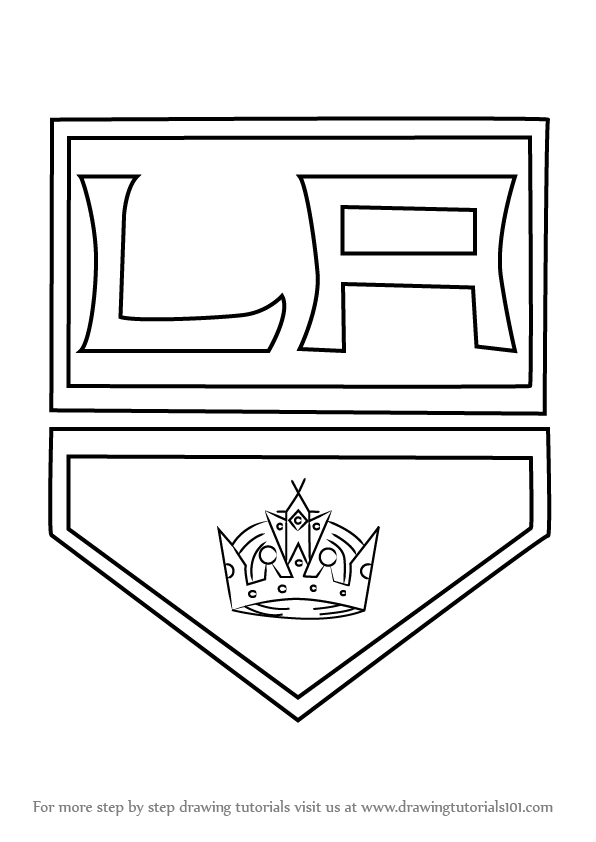 How To Draw Los Angeles Kings Logo Drawingtutorials101 Com Los Angeles Kings Logo Coloring Pages King Tattoos
