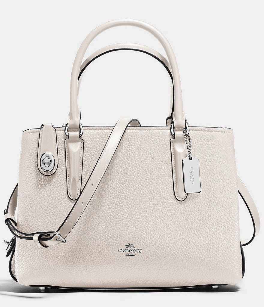 6d5730fd2c2b SILVER CHALK COACH BROOKLYN CARRYALL 28 IN PEBBLE LEATHER