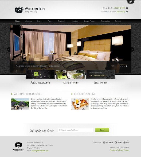 Template WordPress Per Bed And Breakfastcollezione Dei Piu Bei Temi WordPress Per B B Come Promuov Bed And Breakfast WordPress Theme Premium WordPress Themes