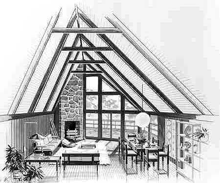 Contemporary Style House Plan 90603 With 3 Bed 2 Bath A Frame House Plans A Frame House House Plans