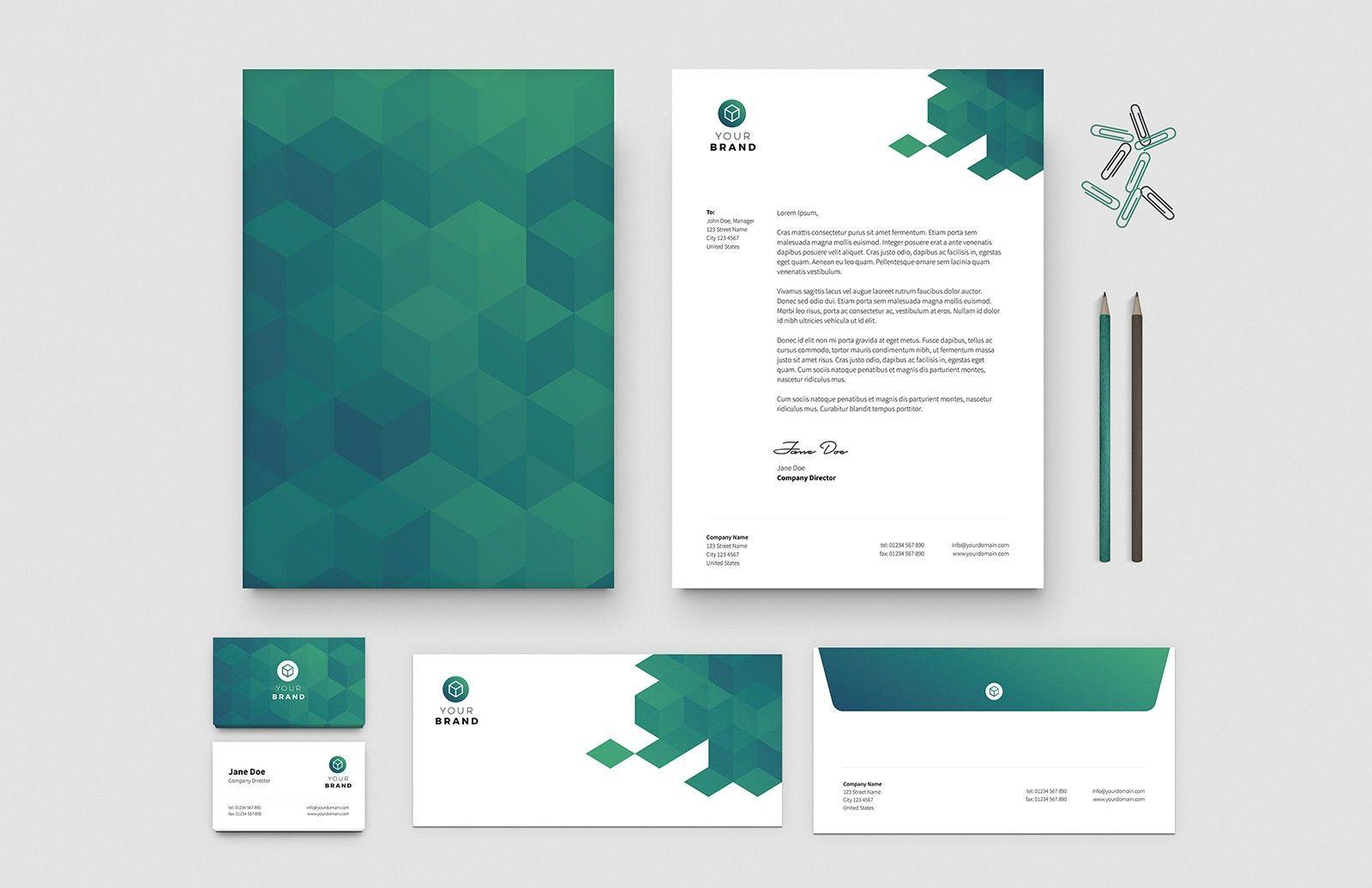 Free Business Card Letterhead Templates Letterhead Design Letterhead Design Inspiration Letterhead Business