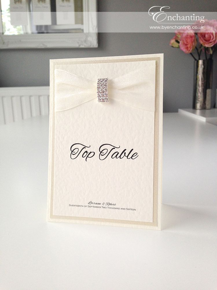 Simple Ivory Wedding Stationery The Jasmine Collection Table Name Number Card Featuring