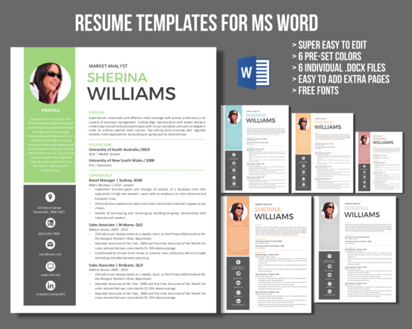Icon Photo Modern Resume Template By Inkpower On Creative Market