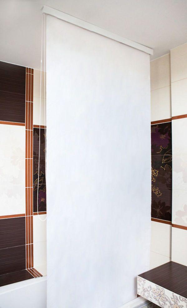 Details zu HALB-KASSETTEN DUSCHROLLO 160 cm EXTRA BREIT UNI WEISS - sichtschutz für badezimmerfenster