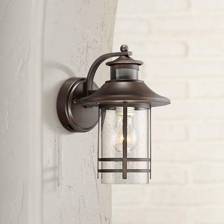 Galt 11 1 4 High Bronze Motion Sensor Outdoor Wall Light 33h87 Lamps Plus Led Outdoor Wall Lights Outdoor Wall Lighting Wall Lights