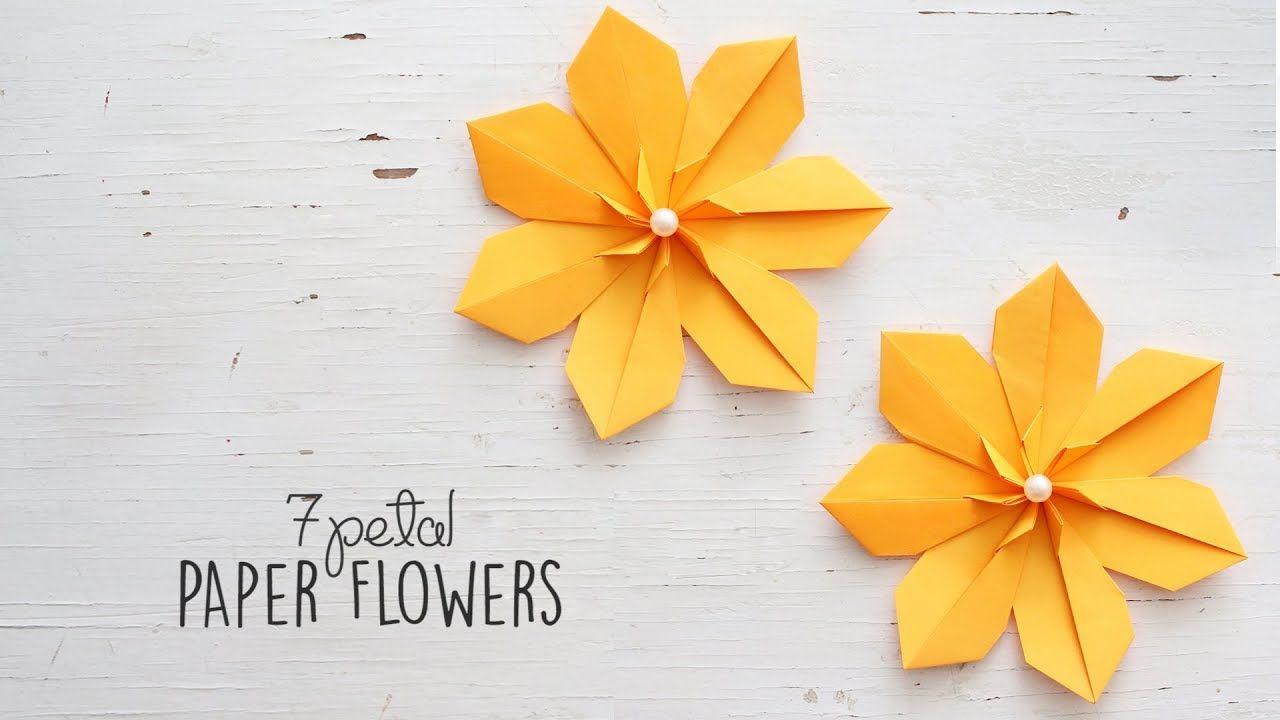 7 petal origami flower