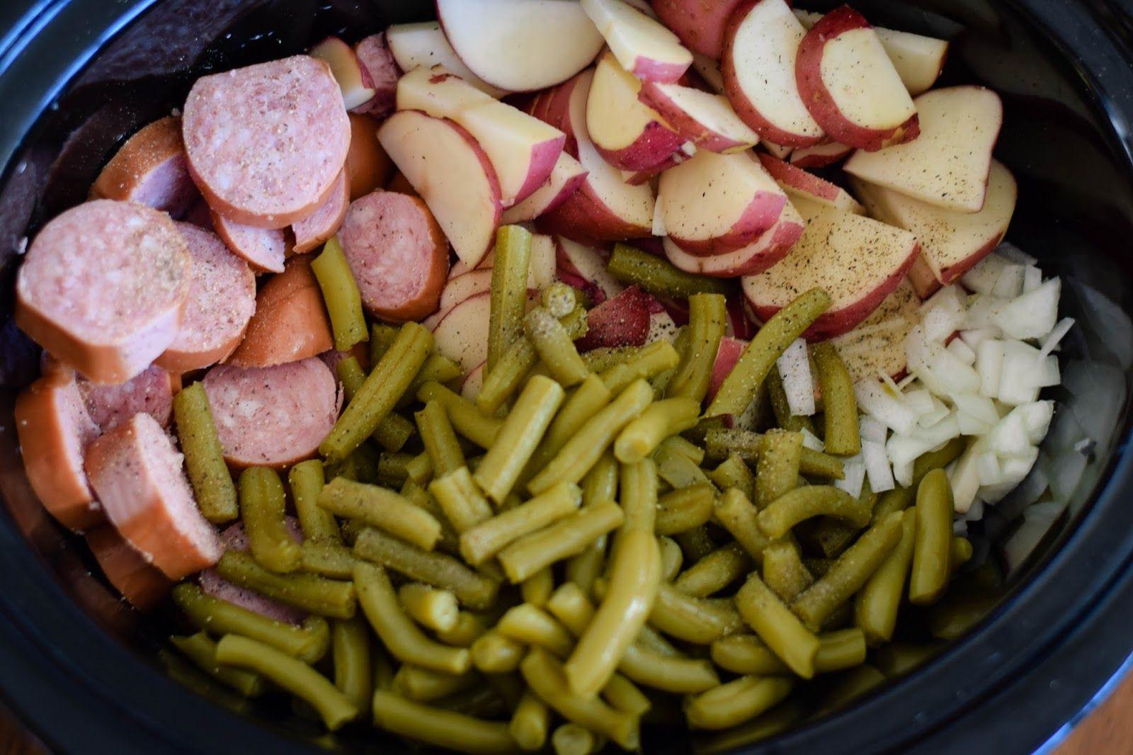 Crock pot sausage green beans and potatoes sausage