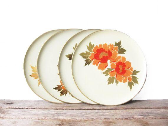 Vintage Otagiri Original Plates - Picnic Plates - Japanese Melamine Plastic Plates - Set of 4  sc 1 st  Pinterest & Vintage Otagiri Original Plates - Picnic Plates - Japanese Melamine ...
