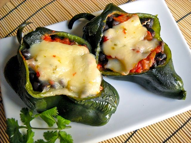 Stuffed poblano peppers   Recipe   The cheese, Powder and ...