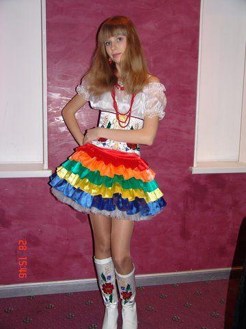 Украинский стилизованный сценический костюм  70ab874591454