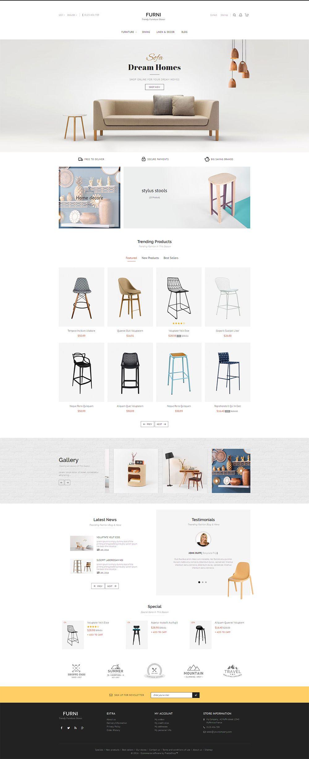 Good Modern, Furniture, Home Decor, Chairs, Kitchen, Ceramic, Art, Grocery. Web  Ui DesignResponsive ...