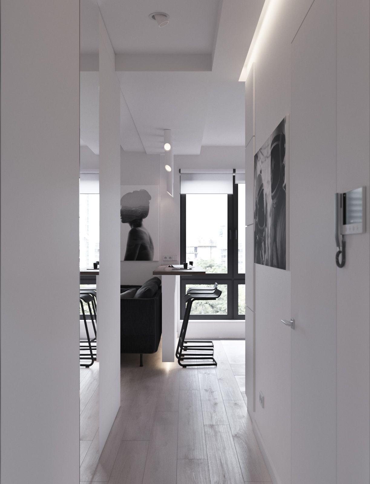 Almost monochrome 45m ГаРерея 3ddd Interiors