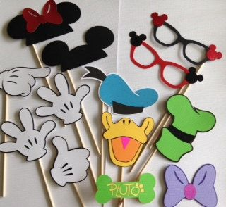 Disney photobooth prop pack mickey minnie donald goofy for Cabina del mickey